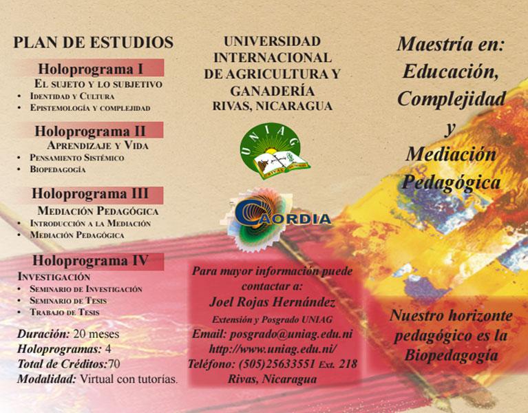 Maestría en Educación, Complejidad y Mediación Pedagógica