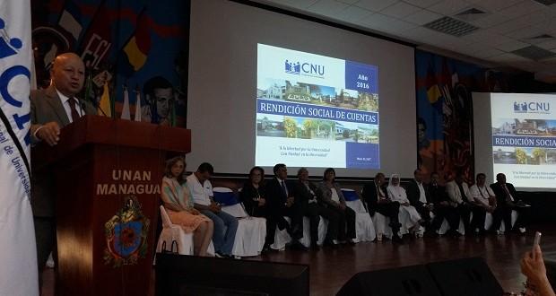 refleja con transparencia los aspectos académicos de Docencia, Investigación, Extensión Universitaria y Gestión Presupuestaria, considerados ejes fundamentales del quehacer de la Educación Superior Pública nicaragüense.